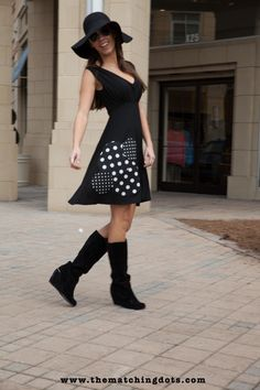 The Matching Dots #street #style #beautiful #black #dress #spotted #cool #stylish #women #look #madeinusa