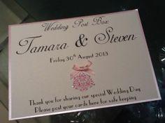 Handmade Personalised Vintage Style Wedding Post Box / Wishing Well Sign