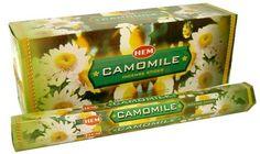 Camomile - Box of Six 20 Stick Tubes, 120 Sticks Total - HEM Incense Hem