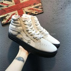 edd783ef4af4bc N. Hoolywood x Vans Japan Authentic SK8 Hi Old Skool Beige Skateboard Shoes  http