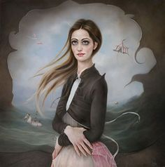 """incredible painting """"The girl of Lost Dreams"""" 2017 [Oil on aluminium panel 50 x 50 cm] . For the beautiful. Modern Artists, Contemporary Artists, Editorial Photography, Fashion Photography, Different Art Styles, Mermaid Beach, Pop Surrealism, Beauty Editorial, Famous Artists"""