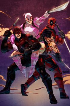 #Gwenpool #Fan #Art. (Drop Party) By: Emmshin. (THE * 5 * STÅR * ÅWARD * OF: * AW YEAH, IT'S MAJOR ÅWESOMENESS!!!™)[THANK Ü 4 PINNING!!!<·><]<©>ÅÅÅ+(OB4E)