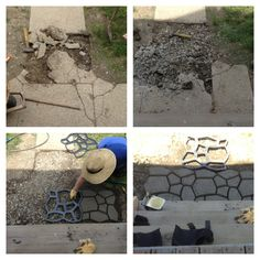 DIY Concrete pavers