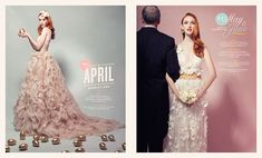 Editorial spreads for the Winter / Spring 2012 cover story of Washingtonian's Bride & Groom issue. — Created at Design Army AD: Pum Lefebure, Sucha Becky Photography: Dean Alexander — Awarded Silver Medal, SPD 47 AIGA50 (2014) HOW Int...