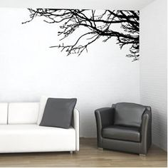 Vinyl Wall Decal Sticker Art Tree Top Branches-Home D