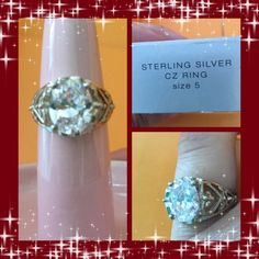 NIB Avon Sterling Silver CZ Ring Size 5 NIB Avon Sterling Silver CZ Ring Size 5 Avon Jewelry Rings