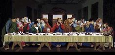 The last supper parody. Catholic Jokes, Bible Humor, Classical Art Memes, Love Me More, Best Cleaning Products, Biblical Inspiration, Inspirational Phrases, Last Supper, Jesus