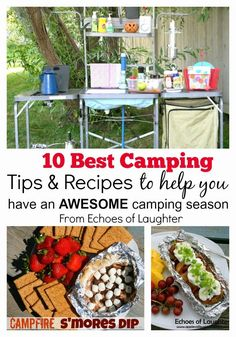 10 Great Camping Recipes & Tips to help you plan & prepare for camping so you can have more time to relax!
