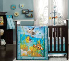 Fish are friends at bedtime! #DisneyBaby #Nemo #Nursery