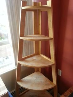 Woodworking for mere mortals free woodworking videos and plans make a corner stand diy - Corner shelf for plants ...