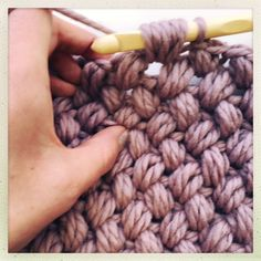 Just looking through Instagram and the yarny blog world at the moment every post is awash with extreme knitting and crochet so not one to feel left out and armed with my 10mm I started to hook.  In my opinion with yarn this luxurious you can't afford not to have it on full show so I knew I wanted this to be a(nother) super chunky cowl/scarf/loop scarf to add to my ever growing collection.  Even though it can be a bit of a yarn hog I decided on the Zig Zag puff stitch, its a super easy stitch…