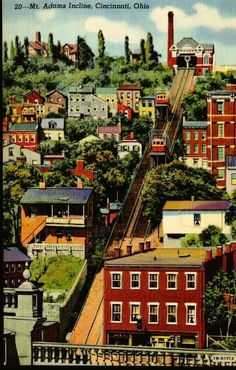 Mt. Adams Incline Postcard (Cincinnati, OH)