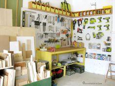 Remodelando la Casa: Organización del garaje - Cómo instalar un tablero de…