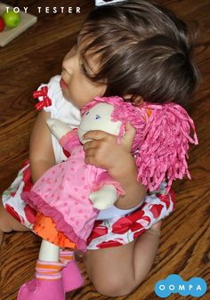 #Oompatoys friend playing with her #Haba Lilli Doll.