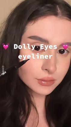 Edgy Makeup, Makeup Eye Looks, Eyeliner Looks, Creative Makeup Looks, Skin Makeup, Beauty Makeup, Doll Eye Makeup, Grunge Makeup, Makeup Stuff