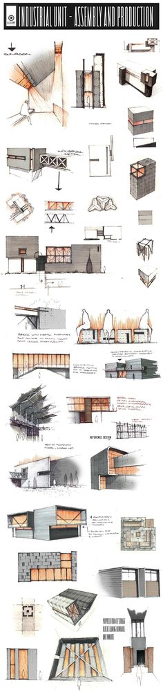 Professional Design Proposals - Under-Development by Anique Azhar via Behance Croquis Architecture, Architecture Graphics, Architecture Board, Concept Architecture, Architecture Details, Interior Architecture, Classical Architecture, Planer Layout, Presentation Techniques