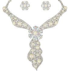 Ever FaithZircon Crystal Cream Simulated Pearl Bridal Flower Necklace Stud Earrings Set Clear N05860-1 Ever Faith http://www.amazon.co.uk/dp/B00YGZ8ZYS/ref=cm_sw_r_pi_dp_rvu8vb0SC80X2