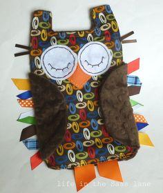 Tag Minky Owl blanket toy
