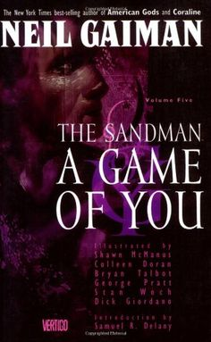 Availability: http://130.157.138.11/record= The Sandman: A Game of You - Book V (Sandman Collected Library) Author Neil Giman - Take an apartment house, mix in a drag queen, a lesbian couple, some talking animals, a talking severed head, a confused heroine, and the deadly Cuckoo. Stir vigorously with a hurricane and Morpheus himself and you get this fifth installment of the Sandman series