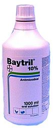 Baytril is a broad spectrum antimicrobial antibiotic that is effective against primary and secondary bacterial and mycoplasma pathogens associated with chronic respiratory disease in chickens and turkeys.
