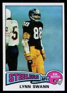 1975 Topps Lynn Swann Pittsburgh Steelers  hof  rookie  USC Pittsburgh  Steelers 4bbbba47a