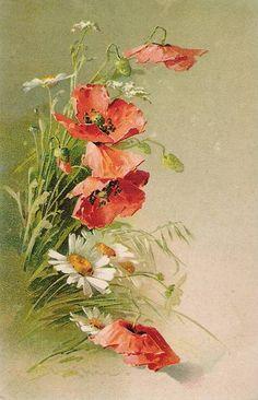 Vintage postcard - artist Catherine Klein by sofi01, via Flickr