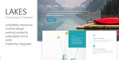 Lakes - Coming Soon Template - Under Construction Specialty Pages