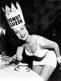 A donut queen in remembrance of donut day.