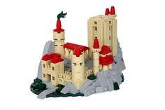 This model is the place prize for the Castle category of the Summer Joust. I had a lot of fun making this micro castle, and even incorporated my old ABS seed part - the red bucket. More pictures can be found on Brickbuilt. Micro Lego, Lego Castle, Lego Architecture, Lego Models, Lego Projects, Lego Moc, Lego Instructions, Cool Lego, Lego Building