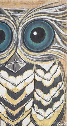 Roosted Owl - Sarah Jewett Art