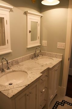 double marble counter space