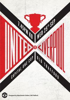 Match poster. Manchester United vs Liverpool, 25 September 2013. Designed by @manutd.