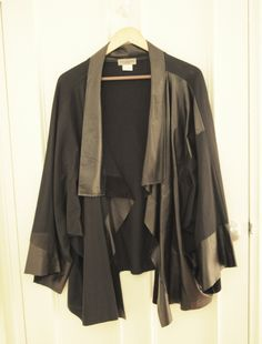 Ivan Grundahl leather and jersey kimono jacket - Actually would love this reworked in silk and velvet.