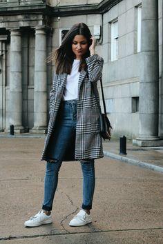 abrigo pata de gallo outfit blog de moda littleblackcoconut
