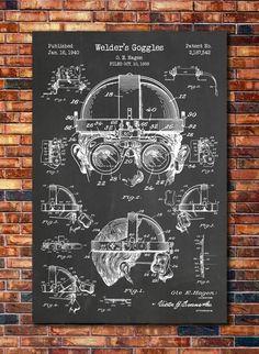 Gafas de soldador patentes imprimir arte por CatkumaPatentPress