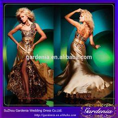 2014 best verkopende hoge kwaliteit gouden sexy luipaard print kant split open…