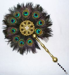 Sapphire  Sage - Renaissance  Medieval Feather Fans Collection