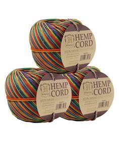 Another great find on #zulily! Rainbow Hemp Cord Ball - Set of Three #zulilyfinds