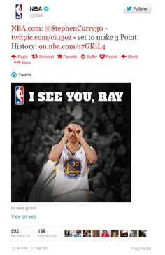 @NBA: @Chris Carlson - http://twitpic.com/ck13oz  - set to make 3 Point History: http://on.nba.com/17GK1L4