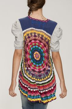Desigual Cardigan Jers Mayal S/M - Fashion Store Hippie Style, Bohemian Style, My Style, Bohemian Chic Fashion, Boho Chic, Arab Fashion, Fashion Women, Colorful Fashion, Sporty Fashion