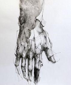 Étude / 40x30 cm /paper #paper #pen #acrylic