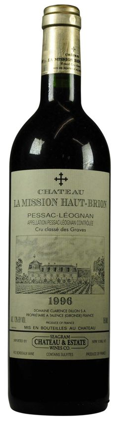 Château La Mission-Haut-Brion 1996 l Christie's Signature Cellars - Online Wine Auction New York Going on NOW- 18 February - 27 February...CLICK TO BID!
