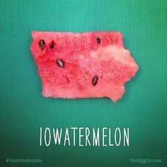 Iowatermelon~Dad And His 8-Year-Old Son Are Creating A Pun-Fueled Food Map Of Every US State