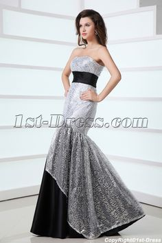 1st-dress.com Offers High Quality Pretty Black and Silver Mermaid Masquerade Party Dress,Priced At Only US$168.00 (Free Shipping)
