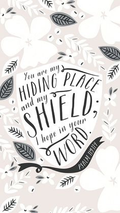 You are my shield.