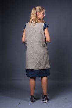 Linen Apron / apron dress / Sizes XS to XXL by LinenCloud on Etsy