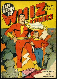 c beck shazam | Whiz Comics #22 by C.C. Beck: classic Captain Marvel and Billy Batson ...