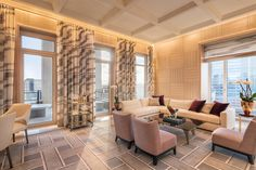 A Sneak Peek at the New Robert A.M. Stern-Designed Four Seasons Penthouse in Tribeca - Mansion Global Condos For Sale, Property For Sale, Playroom Lounge, Woolworth Building, Pool Lounge, Function Room, Private Dining Room, Living Room With Fireplace, Pent House