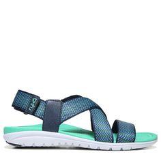 Ryka Women's Belmar Medium/Wide Sandals (Blue/Shamrock Green)