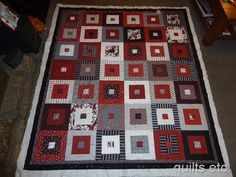 Dizzy - square in a square, machine pieced hand quilting